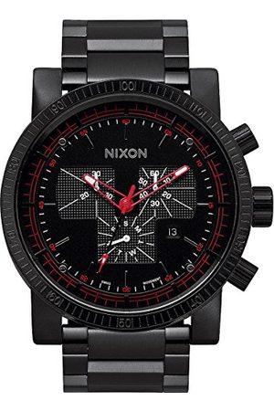 Nixon Męski zegarek na rękę Magnacon SS II All Black analogowy kwarcowy stal szlachetna A457001-00