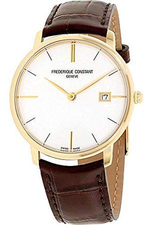 Frederique Constant Unisex analogowy zegarek kwarcowy ze skórzanym paskiem FC-220V5S5