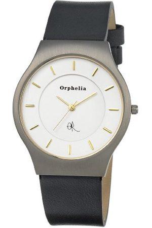 ORPHELIA Męski zegarek na rękę Spacemaster analogowy tytan kwarcowy skóra Pasek złoto