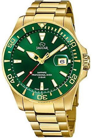 Jaguar Model zegarka J877 / 2 z kolekcji Executive, 43,5 mm zielona obudowa z platerowanym stalowym paskiem dla mężczyzn J877/2