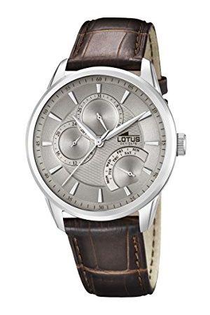 Lotus Męski analogowy zegarek kwarcowy ze skórzanym paskiem 15974/2