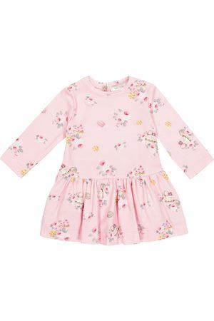 MONNALISA Niemowlę Sukienki z nadrukiem - Baby floral jersey dress