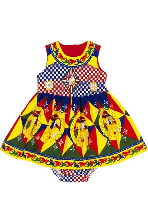 Dolce & Gabbana Kids Baby printed dress and bloomers set