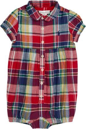 Polo Ralph Lauren Kids Baby checked cotton playsuit