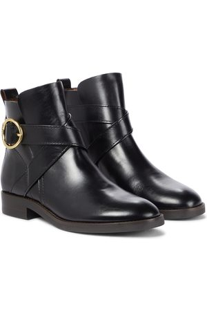 See By Chloé Lyna buckled leather ankle boots