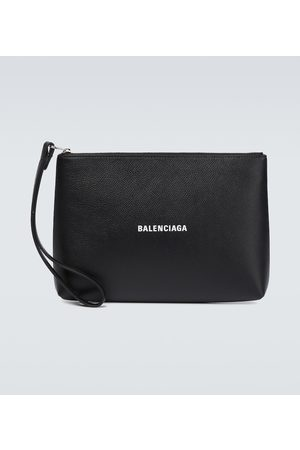 Balenciaga Cash leather pouch