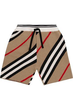 Burberry Kids Icon Stripe wool-blend shorts