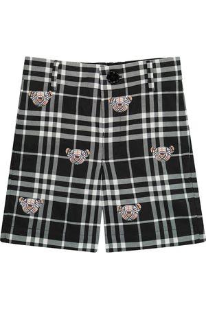 Burberry Kids Thomas Bear checked cotton shorts