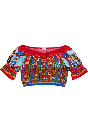 Dolce & Gabbana Kids Printed cotton top