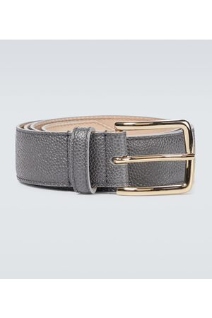 Thom Browne 4-Bar grained leather belt