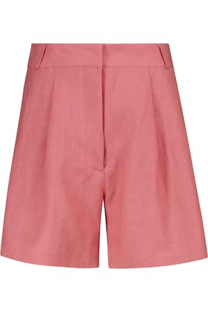 ASCENO Madrid linen Bermuda shorts