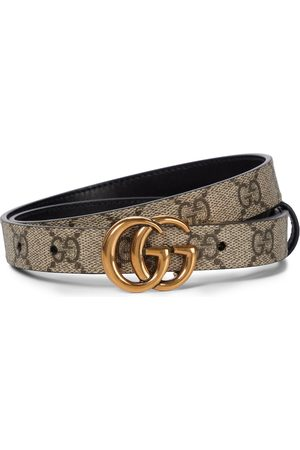 Gucci GG Supreme and leather reversible belt