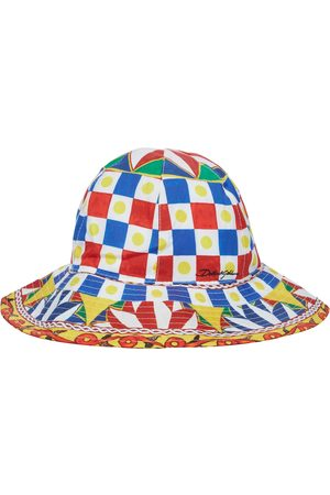 Dolce & Gabbana Printed cotton bucket hat