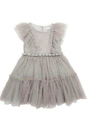 MONNALISA Sparkling tulle dress