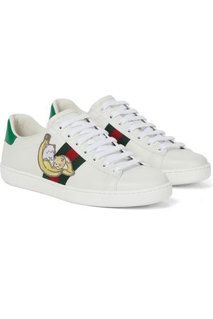 Gucci Bananya © Ace leather sneakers