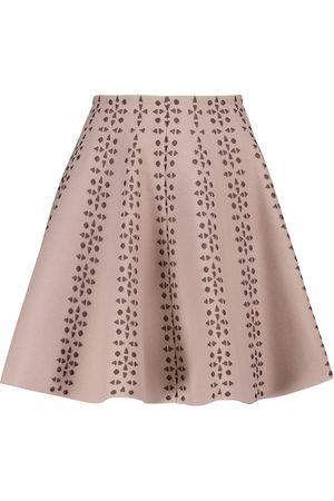 Alaïa Flared jacquard miniskirt