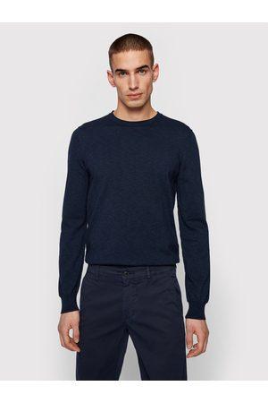 HUGO BOSS Mężczyzna Swetry i Pulowery - Sweter Kabiron 50446540 Granatowy Slim Fit