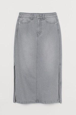 H&M Kobieta Spódnice midi - Dżinsowa spódnica do kolan