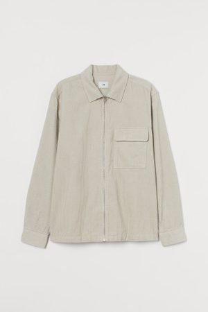 H&M Sztruksowa kurtka koszulowa