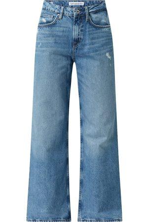 Pepe Jeans Jeansy skrócone z wysokim stanem z bawełny model 'Faith'