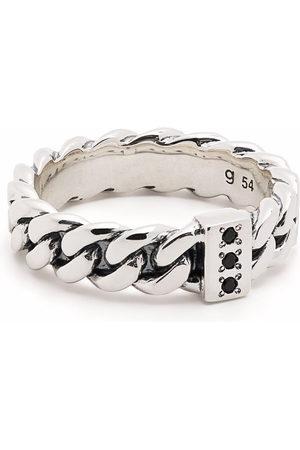 TOM WOOD Pierścionki - Chain Slim Spinel sterling ring