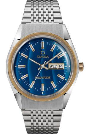 Timex Zegarek - Q Reissue TW2T80800 Silver/Gold
