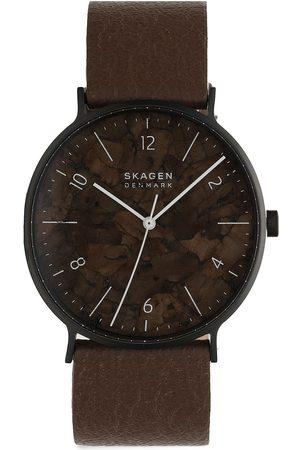 Skagen Mężczyzna Zegarki - Zegarek - Aaren SKW6728 Black/Brown
