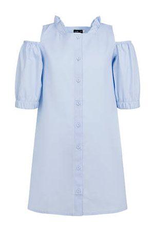 Endo Koszulowa sukienka z odłoniętymi ramionami, niebieska, 2-8 lat
