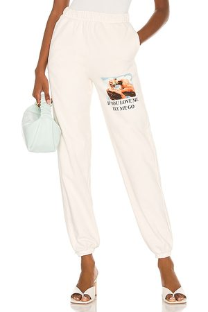 Boys Lie Sweatpants in - White. Size L (also in S, M).