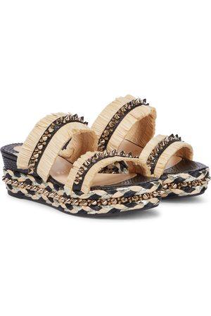 Christian Louboutin Voltinoudou raffia wedge sandals