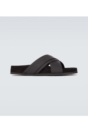 Tom Ford Leather Wicklow slides