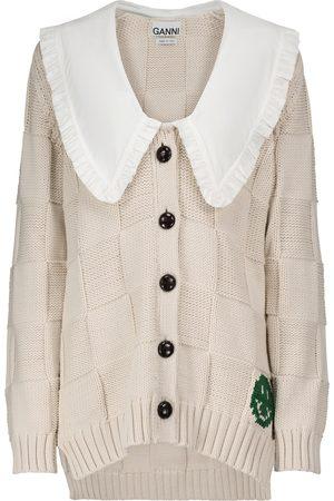 Ganni Cotton-blend knit cardigan