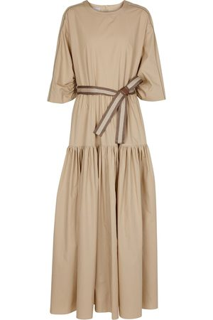 Brunello Cucinelli Exclusive to Mytheresa – Belted cotton maxi dress