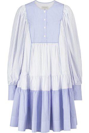 Lee Mathews Diana striped cotton maxi dress