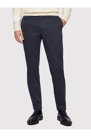 HUGO BOSS Chinosy Broad1-W 50447070 Granatowy Slim Fit