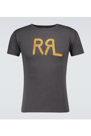 RRL Z krótkim rękawem - Logo short-sleeved cotton T-shirt