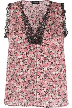 Pinko Floral sleeveless top