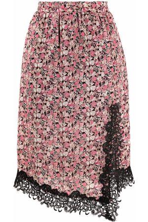 Pinko Floral-print side-slit skit