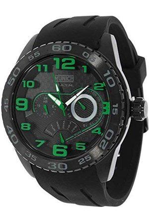 Munich Unisex dla dorosłych analogowy zegarek kwarcowy z gumową bransoletką MU+136.1B