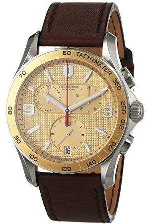 Victorinox Męski zegarek na rękę chronograf kwarcowy skóra 241659