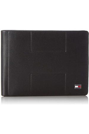 Tommy Hilfiger Męska portmonetka LEATHER TH EMBOSS CC FLAP czarna (Black)
