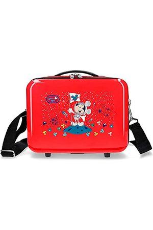Disney Mickey on the Moon kosmetyczka z paskiem na ramię, 29 x 21 x 15 cm, Rojo (Czerwony) - 2263923