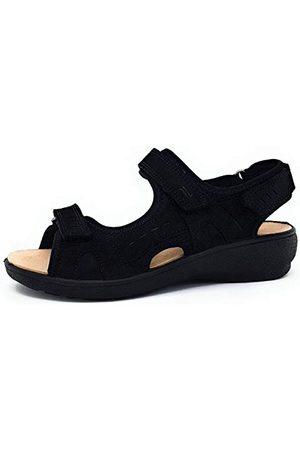 Legero Damskie sandały Gorla, Schwarz Schwarz 000-38 EU