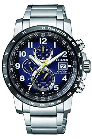 Citizen Mężczyzna Zegarki - Męski chronograf Eco-Drive zegarek z bransoletką ze stali szlachetnej AT8124-91L