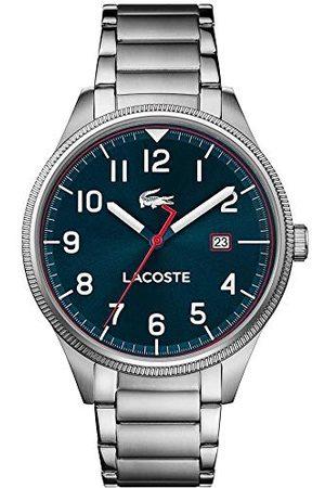 Lacoste Męski analogowy klasyczny zegarek kwarcowy z paskiem ze stali nierdzewnej 2011022