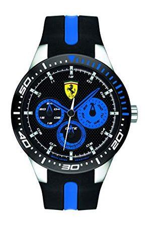 Scuderia Ferrari Męski zegarek kwarcowy z wieloma tarczami z silikonowym paskiem 0830587