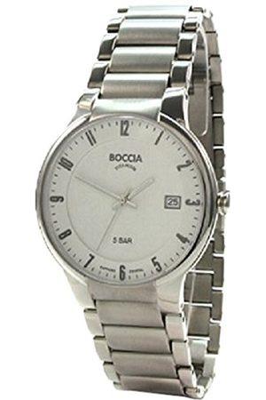 Boccia Męski zegarek na rękę XL analogowy kwarcowy tytan 3629-02