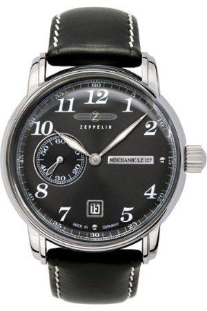Zeppelin Męski zegarek mechaniczny 76362 z czarną tarczą i przezroczystą obudową z tyłu