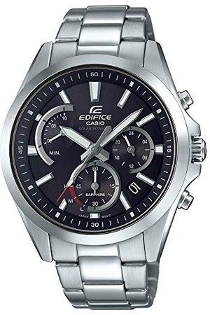 Casio Męski analogowy klasyczny słoneczny zegarek z paskiem ze stali nierdzewnej EFS-S530D-1AVUEF