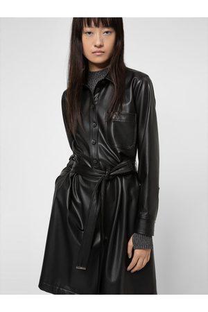 HUGO BOSS Sukienka z imitacji skóry Kalana-1 50443348 Regular Fit